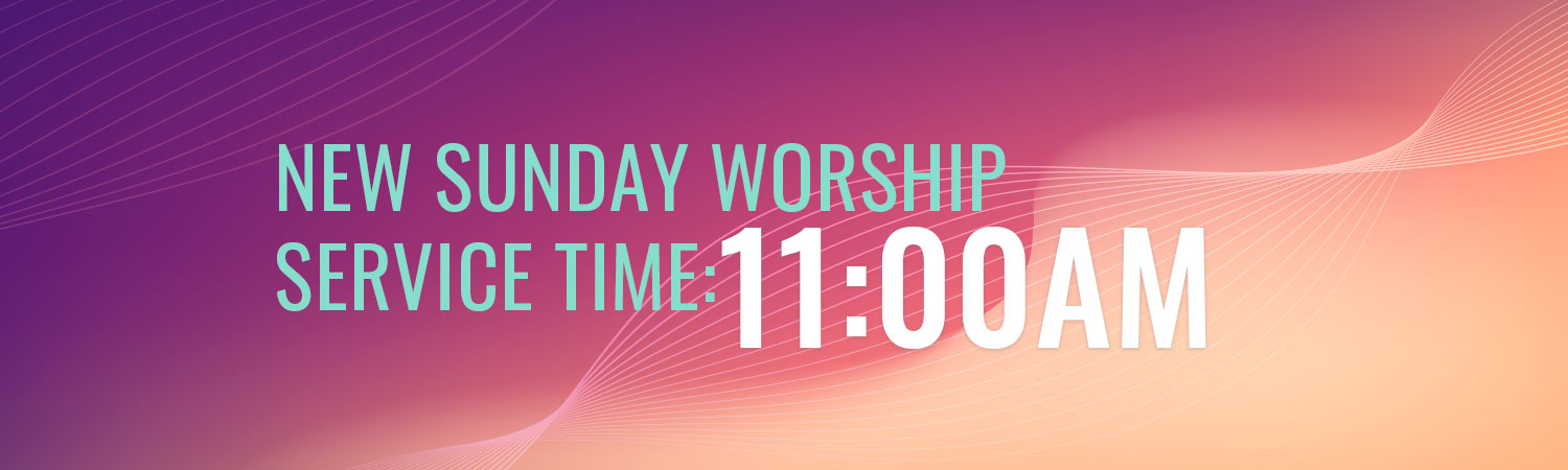 New Sunday Service Times