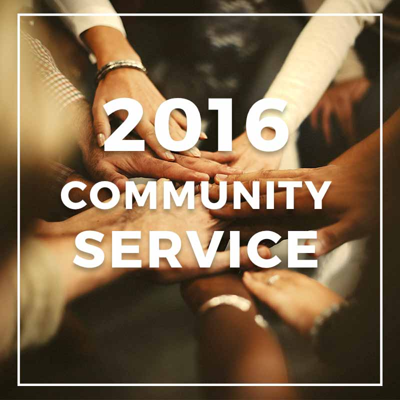 2016 Community Service Photos