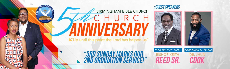 5th church anniversary