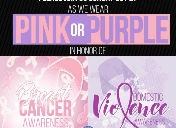Pink or Purple Sunday